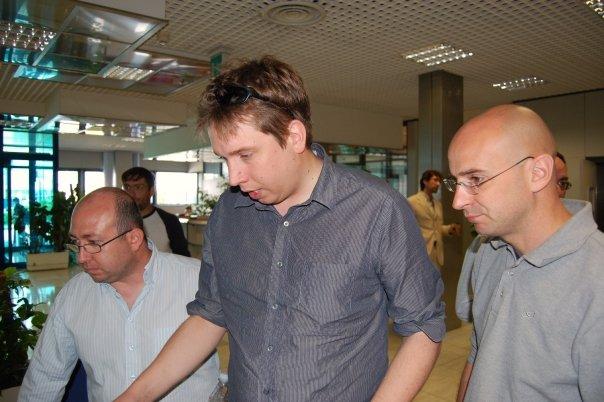 da sx: Simone Cortesi, Steve Coast, io :-)