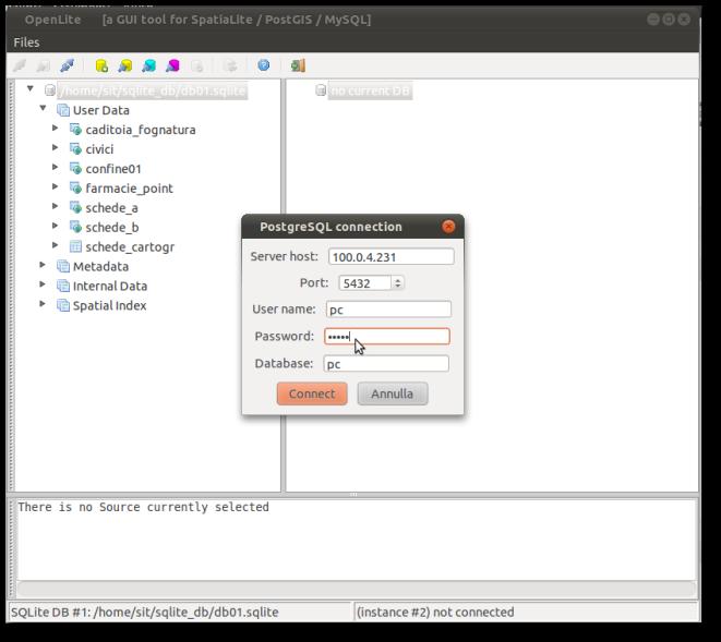 connessione a PostgreSQL